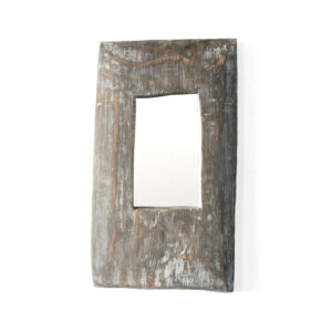 Massive wooden interior mirror of unusual shape for boho chic or Scandinavian interior Miracle House