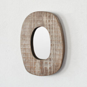 handmade wooden mirror