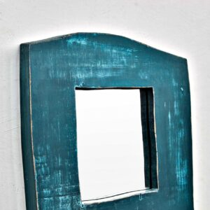 Miracle house wall mounted designer wood mirror boho chic loft hippie