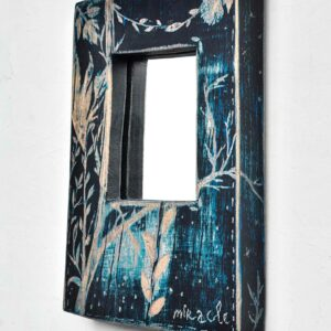"Buy interior mirror made of wood ""Nocturno"" Miracle House"