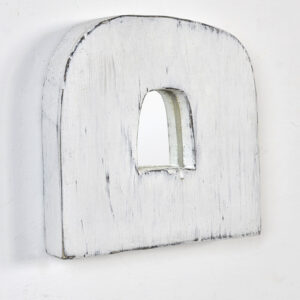Buy a light white handmade mirror for a hippie interior, Scandinavian style, boho, loft Miracle House