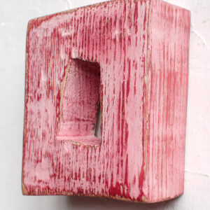 Small pink wooden mirror Miracle House